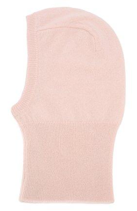 Детского кашемировая шапка-балаклава OSCAR ET VALENTINE розового цвета, арт. CAG 02 | Фото 2