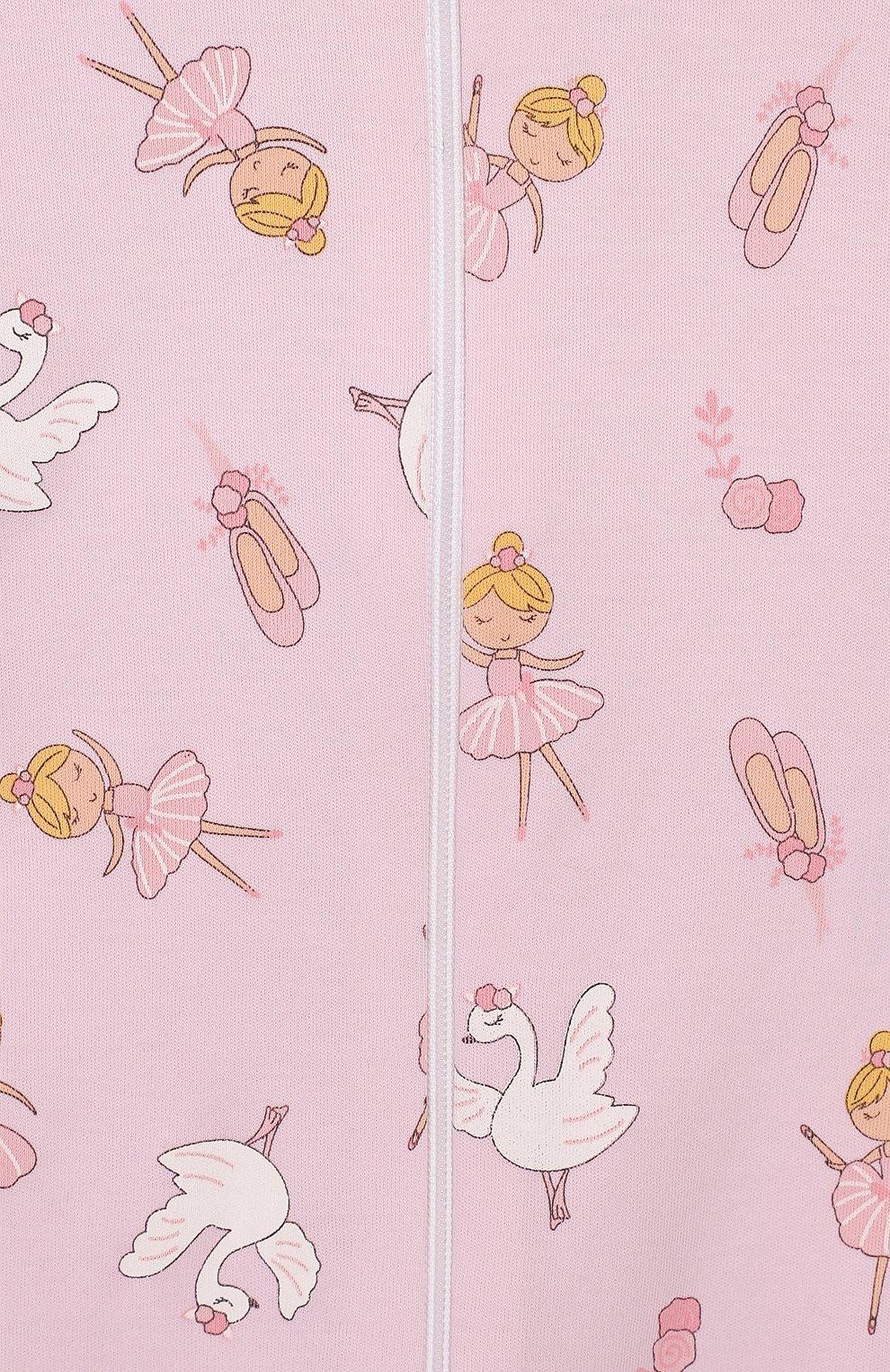 Детский хлопковый комбинезон ballet duet MAGNOLIA BABY розового цвета, арт. 468-ZP-PK   Фото 3 (Рукава: Длинные; Материал внешний: Хлопок; Ростовка одежда: 18 мес   86 см)
