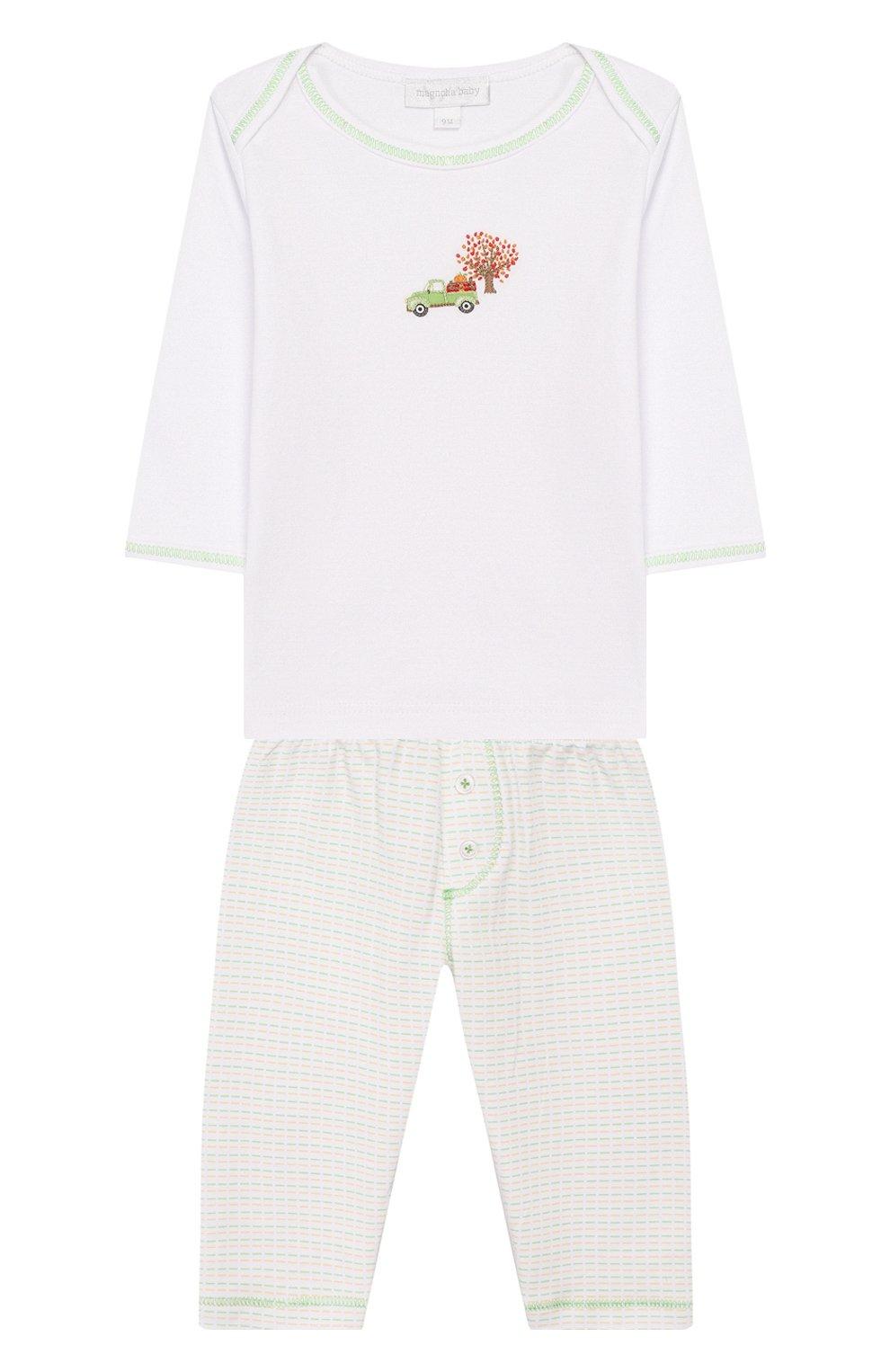 Детский комплект из лонгслива и брюк fall farm MAGNOLIA BABY разноцветного цвета, арт. 652-27-CE | Фото 1