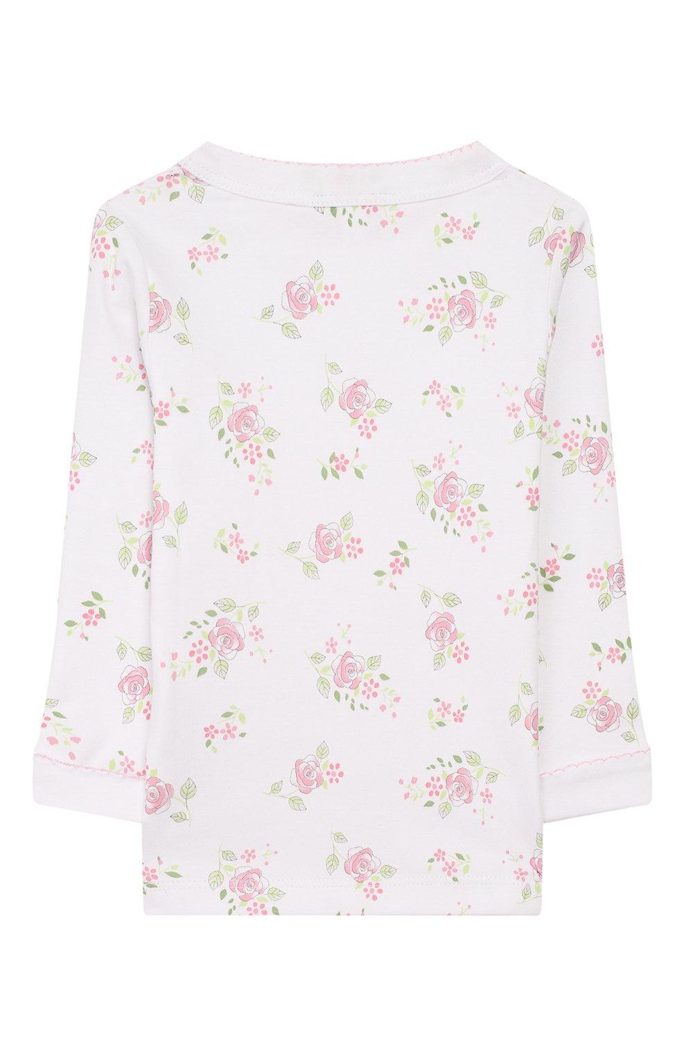 Детский пижама hope's roses essentials MAGNOLIA BABY розового цвета, арт. E105-LP-PK   Фото 3 (Рукава: Длинные; Материал внешний: Хлопок)