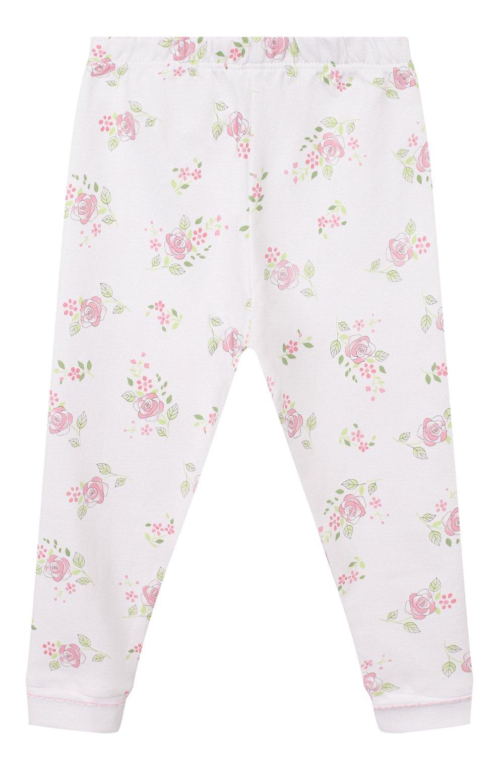 Детский пижама hope's roses essentials MAGNOLIA BABY розового цвета, арт. E105-LP-PK   Фото 4 (Рукава: Длинные; Материал внешний: Хлопок)