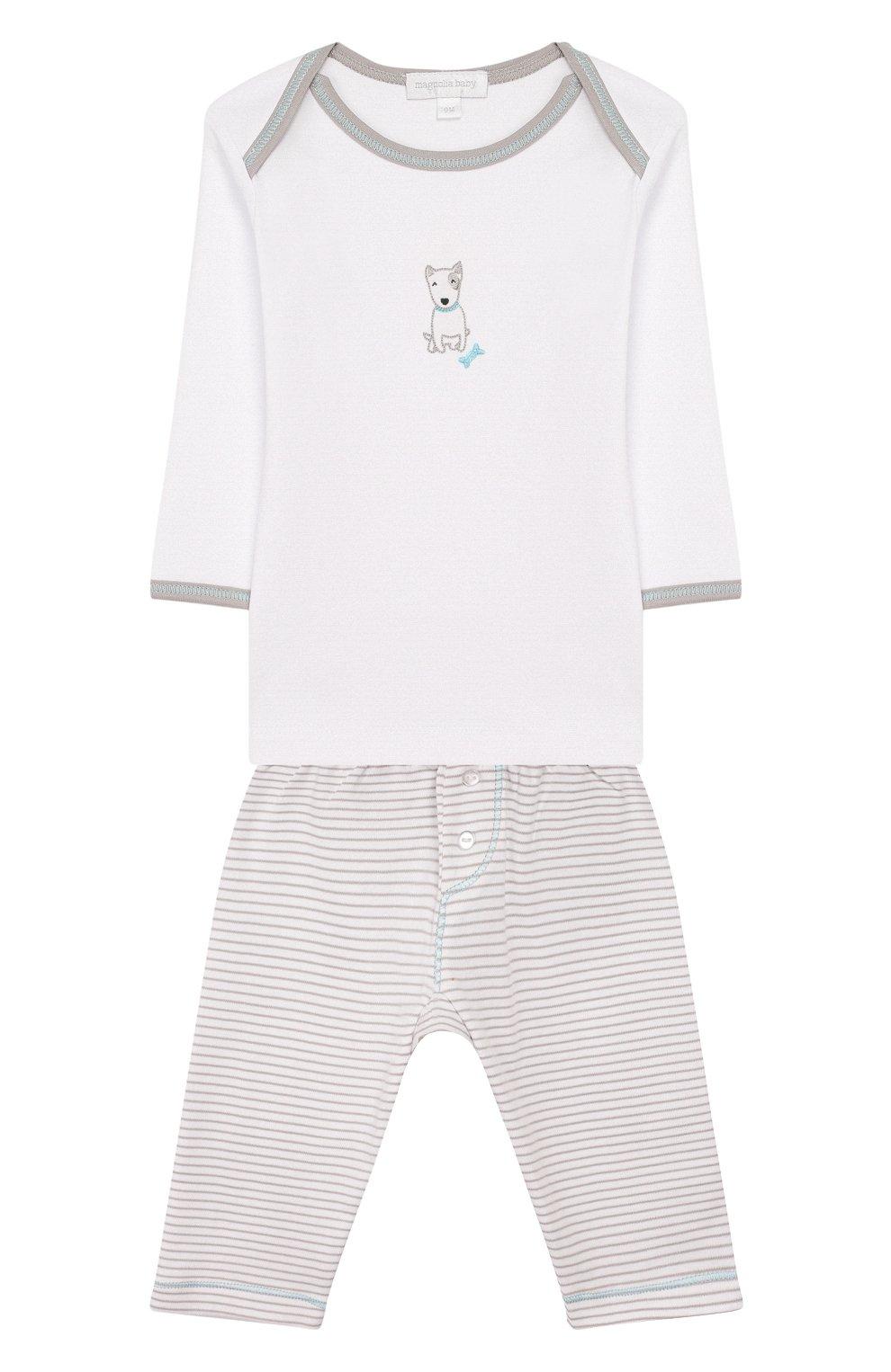 Детский комплект из лонгслива и брюк best buddy MAGNOLIA BABY серого цвета, арт. 563-27-LB | Фото 1