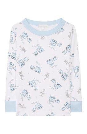 Детский пижама tiny choo choo MAGNOLIA BABY голубого цвета, арт. 569-LP-LB | Фото 2