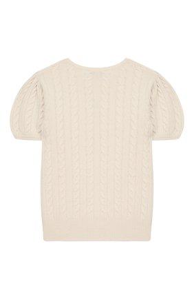Детский кашемировый пуловер OSCAR ET VALENTINE бежевого цвета, арт. PUL05M | Фото 2