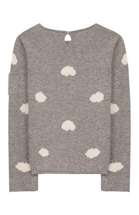 Детский кашемировый пуловер OSCAR ET VALENTINE серого цвета, арт. PUL01CLOUDL | Фото 2