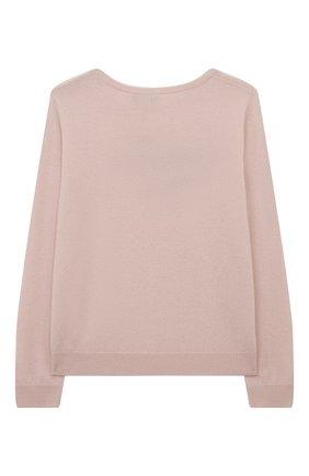 Детский кашемировый пуловер OSCAR ET VALENTINE розового цвета, арт. PUL01LUCKYMEL | Фото 2