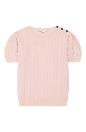 Детский кашемировый пуловер OSCAR ET VALENTINE розового цвета, арт. PUL05M | Фото 1