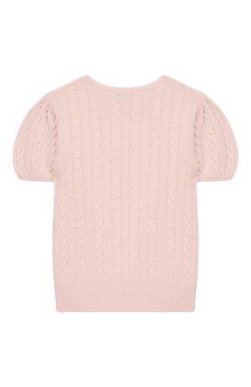 Детский кашемировый пуловер OSCAR ET VALENTINE розового цвета, арт. PUL05M | Фото 2