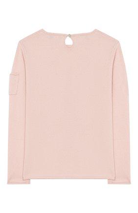Детский кашемировый пуловер OSCAR ET VALENTINE розового цвета, арт. PUL01EIFFELM | Фото 2