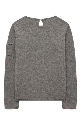 Детский кашемировый пуловер OSCAR ET VALENTINE серого цвета, арт. PUL01BEARM | Фото 2