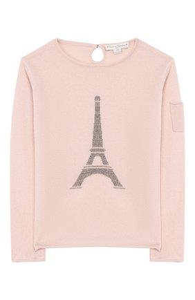 Детский кашемировый пуловер OSCAR ET VALENTINE розового цвета, арт. PUL01EIFFELL | Фото 1