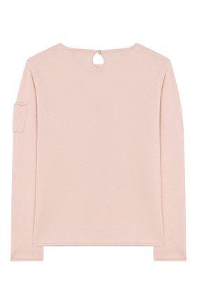 Детский кашемировый пуловер OSCAR ET VALENTINE розового цвета, арт. PUL01EIFFELL | Фото 2
