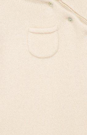 Детский кашемировый комбинезон OSCAR ET VALENTINE бежевого цвета, арт. PIL01 | Фото 3 (Материал внешний: Шерсть, Кашемир; Рукава: Длинные)