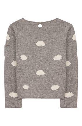 Детский кашемировый пуловер OSCAR ET VALENTINE серого цвета, арт. PUL01CLOUDM | Фото 2