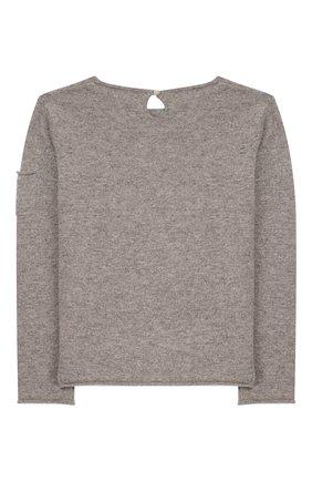 Детский кашемировый пуловер OSCAR ET VALENTINE серого цвета, арт. PUL01DOGM | Фото 2