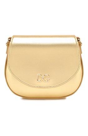 Детская кожаная сумка DOLCE & GABBANA золотого цвета, арт. EB0212/A6B17   Фото 1