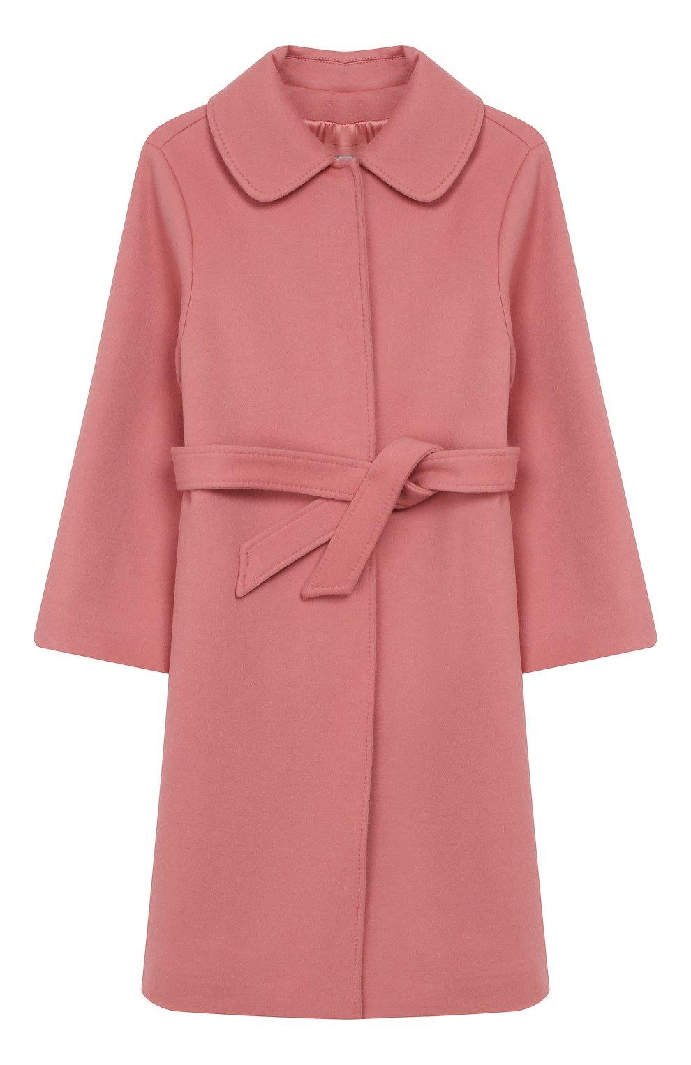 Детское шерстяное пальто DOLCE & GABBANA розового цвета, арт. L53C77/FU3I5/8-14 | Фото 1