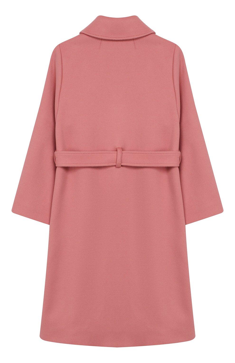 Детское шерстяное пальто DOLCE & GABBANA розового цвета, арт. L53C77/FU3I5/8-14 | Фото 2