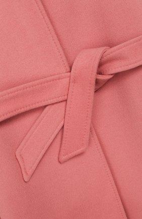 Детское шерстяное пальто DOLCE & GABBANA розового цвета, арт. L53C77/FU3I5/8-14 | Фото 3