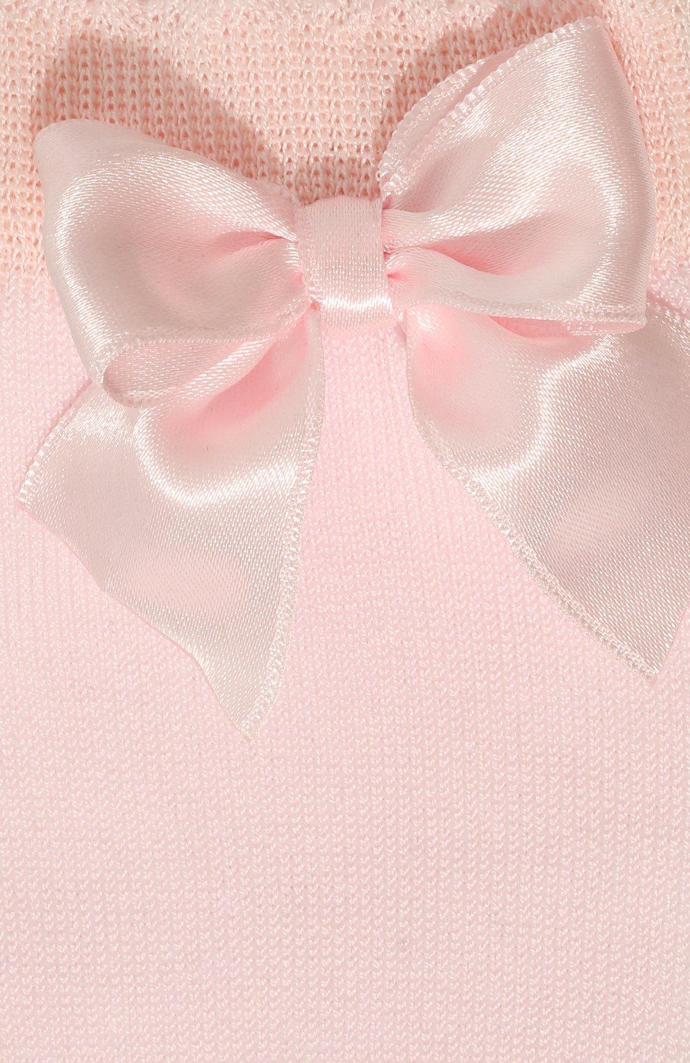 Детские хлопковые гольфы LA PERLA розового цвета, арт. 42452/3-6 | Фото 2