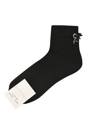 Детские хлопковые носки LA PERLA черного цвета, арт. 42381/9-12 | Фото 1