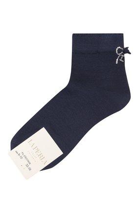 Детские хлопковые носки LA PERLA темно-синего цвета, арт. 42381/9-12 | Фото 1