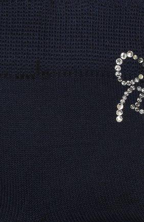Детские хлопковые носки LA PERLA темно-синего цвета, арт. 42381/9-12 | Фото 2