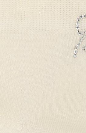Детские хлопковые носки LA PERLA бежевого цвета, арт. 42381/7-8 | Фото 2