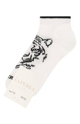Детские хлопковые носки LA PERLA белого цвета, арт. 42375/7-8 | Фото 1