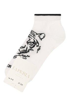 Детские хлопковые носки LA PERLA белого цвета, арт. 42375/3-6 | Фото 1