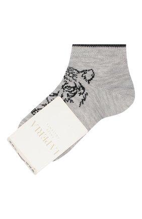 Детские хлопковые носки LA PERLA серого цвета, арт. 42375/1-2 | Фото 1