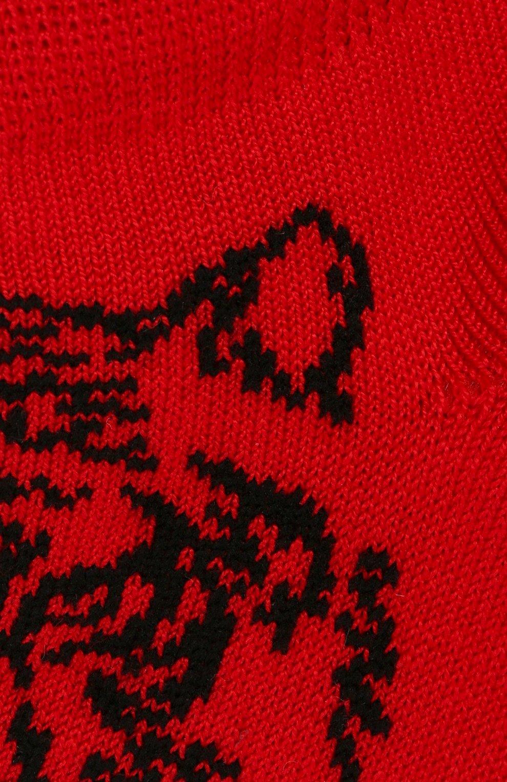 Детские хлопковые носки LA PERLA красного цвета, арт. 42375/1-2 | Фото 2 (Материал: Текстиль, Хлопок)