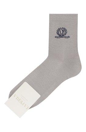 Детские хлопковые носки LA PERLA серого цвета, арт. 42035/7-8 | Фото 1