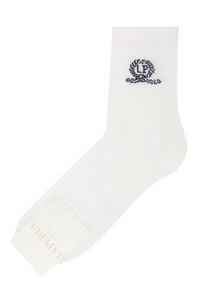 Детские хлопковые носки LA PERLA белого цвета, арт. 42035/7-8 | Фото 1