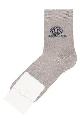 Детские хлопковые носки LA PERLA серого цвета, арт. 42035/3-6 | Фото 1