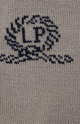 Детские хлопковые носки LA PERLA серого цвета, арт. 42035/3-6 | Фото 2