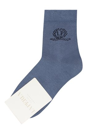 Детские хлопковые носки LA PERLA синего цвета, арт. 42035/3-6 | Фото 1