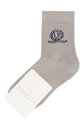Детские хлопковые носки LA PERLA серого цвета, арт. 42035/1-2 | Фото 1