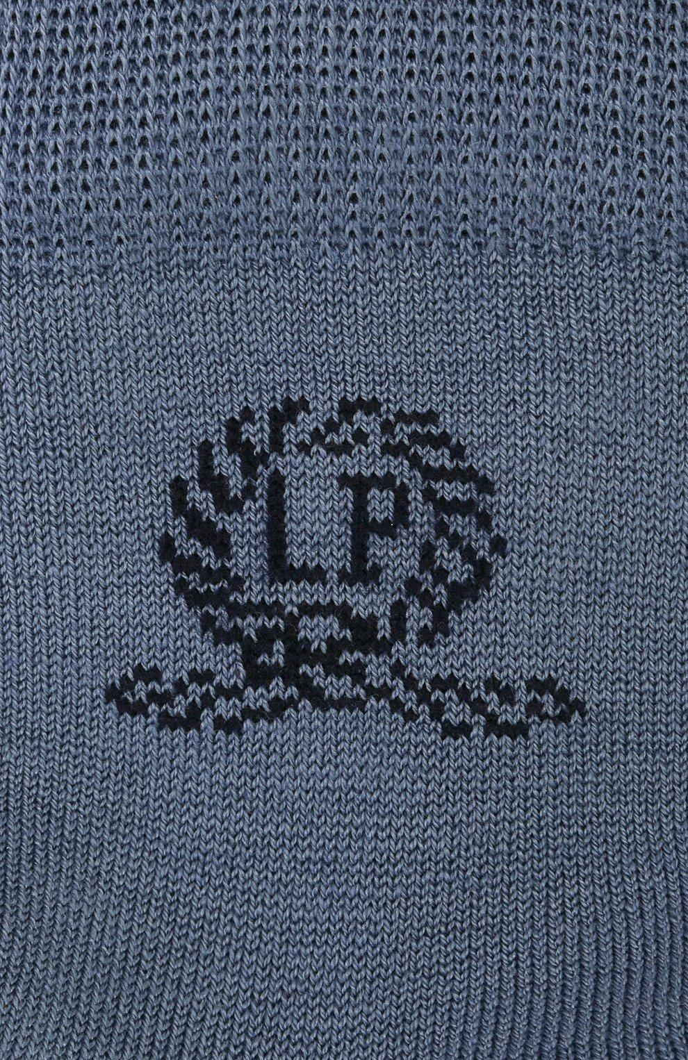 Детские хлопковые носки LA PERLA синего цвета, арт. 42035/1-2 | Фото 2 (Материал: Текстиль, Хлопок)
