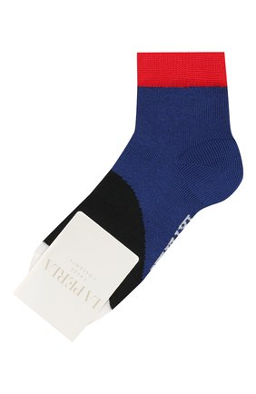 Детские хлопковые носки LA PERLA синего цвета, арт. 42033/3-6 | Фото 1