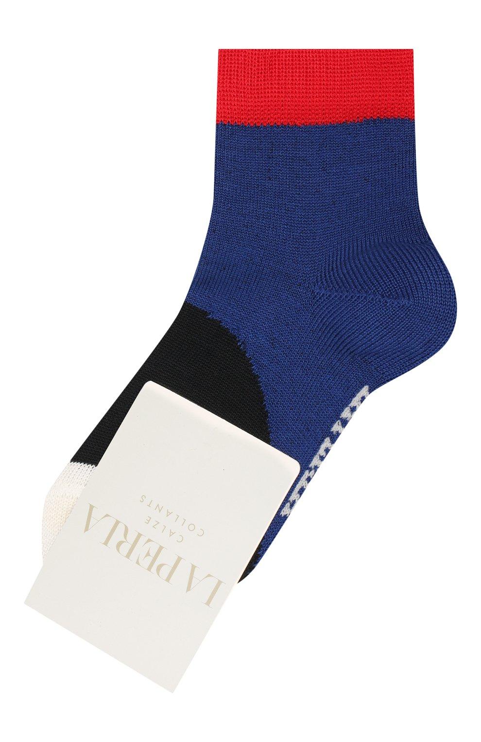 Детские хлопковые носки LA PERLA синего цвета, арт. 42033/1-2 | Фото 1 (Материал: Текстиль, Хлопок)
