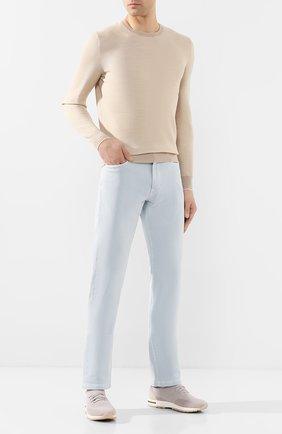 Мужские джинсы LORO PIANA светло-голубого цвета, арт. FAG1329 | Фото 2