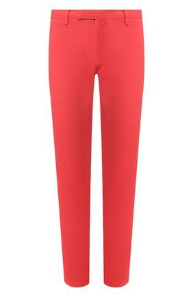 Мужской хлопковые брюки POLO RALPH LAUREN красного цвета, арт. 710644988   Фото 1