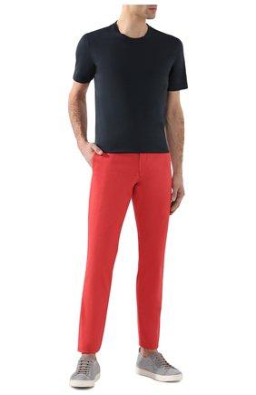 Мужской хлопковые брюки POLO RALPH LAUREN красного цвета, арт. 710644988 | Фото 2