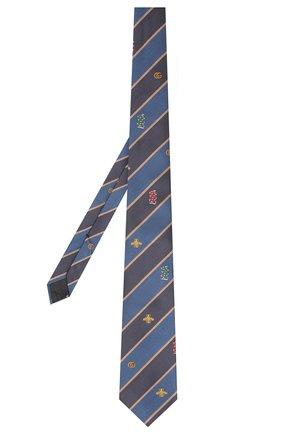 Мужской шелковый галстук GUCCI синего цвета, арт. 545077/4E002 | Фото 2