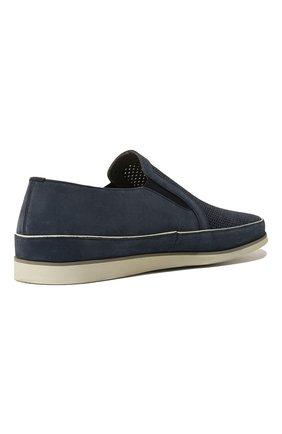 Мужские замшевые слипоны ALDO BRUE синего цвета, арт. AB8014G-NS | Фото 5