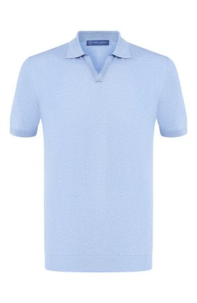 Мужское шелковое поло ANDREA CAMPAGNA голубого цвета, арт. 43129/23503 | Фото 1