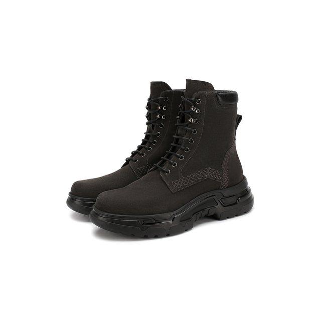 Замшевые ботинки Giorgio Armani