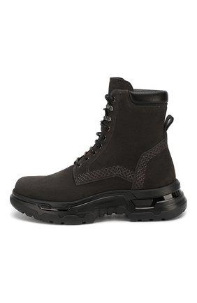 Мужские замшевые ботинки GIORGIO ARMANI темно-серого цвета, арт. X2M312/XM181   Фото 3