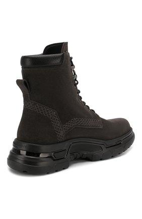 Мужские замшевые ботинки GIORGIO ARMANI темно-серого цвета, арт. X2M312/XM181   Фото 4